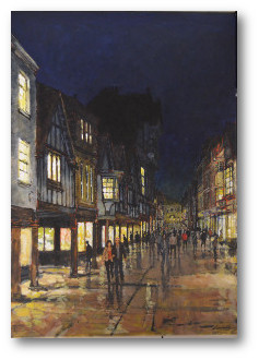 Winchester High Street at night